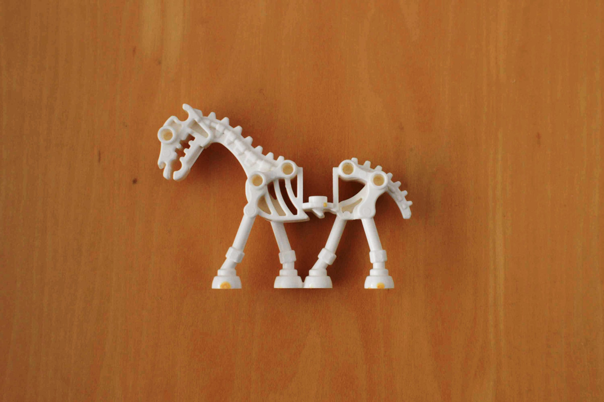 Legopdferdeskelett