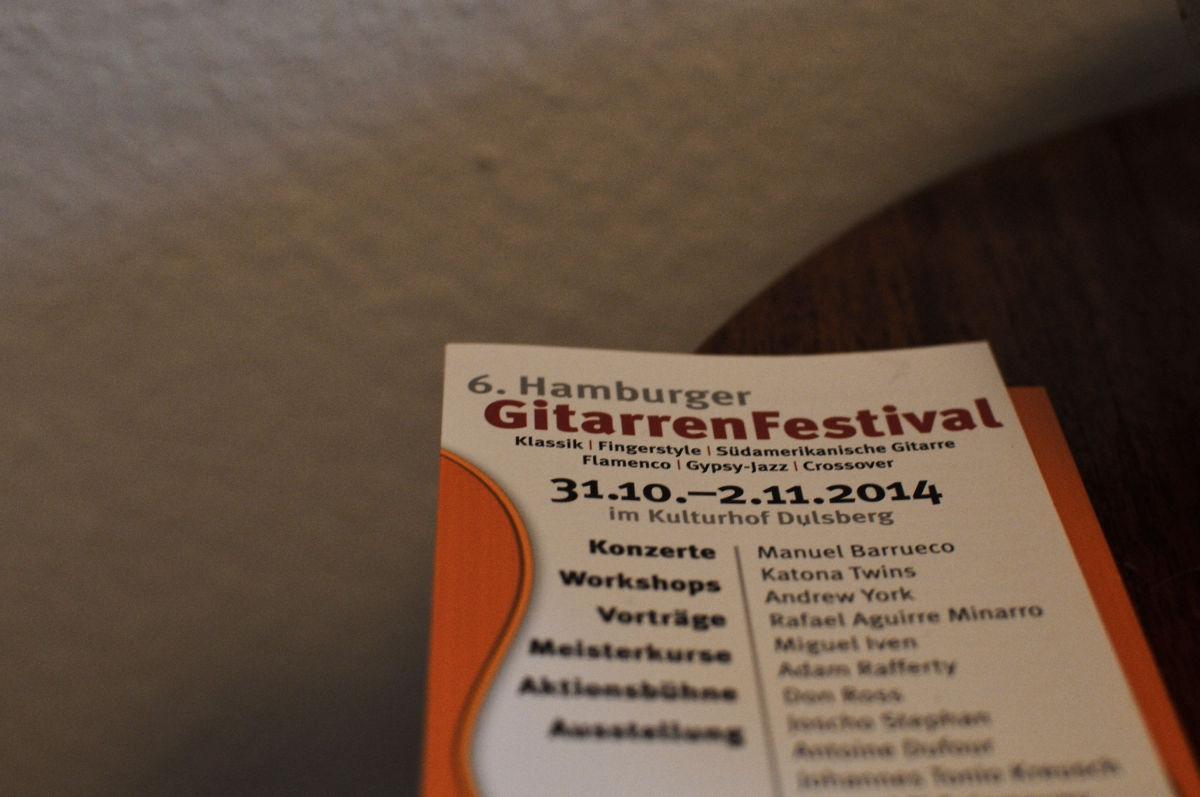 Hamburger Gitarrenfestival-Flyer