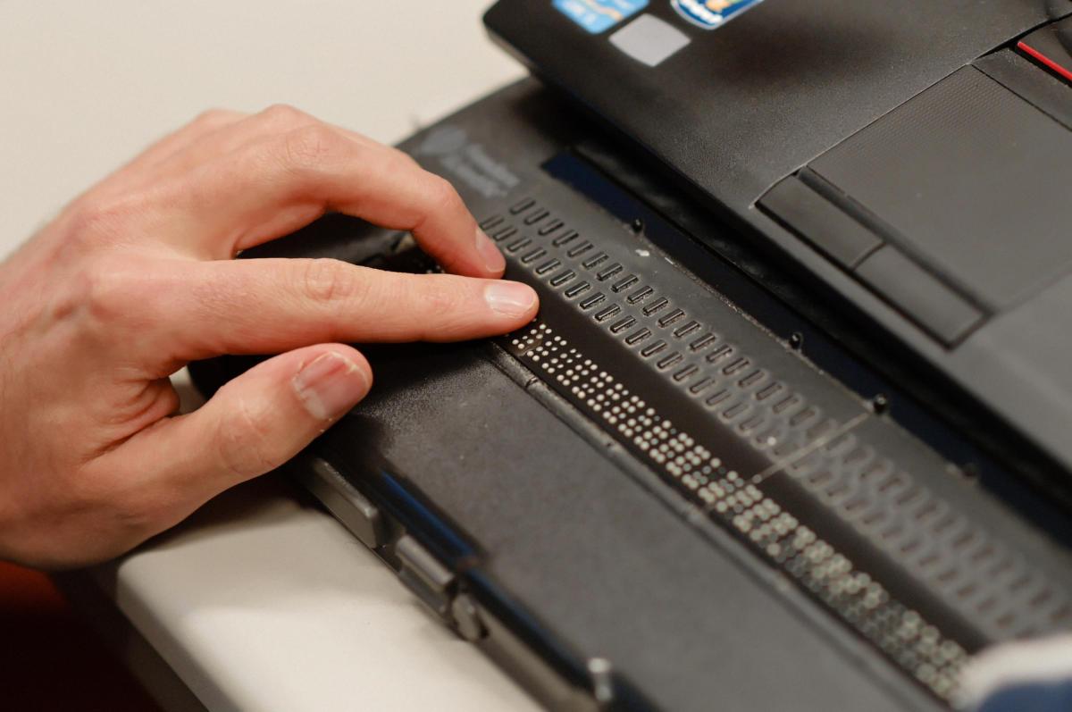 Braille-Zeile am Computer