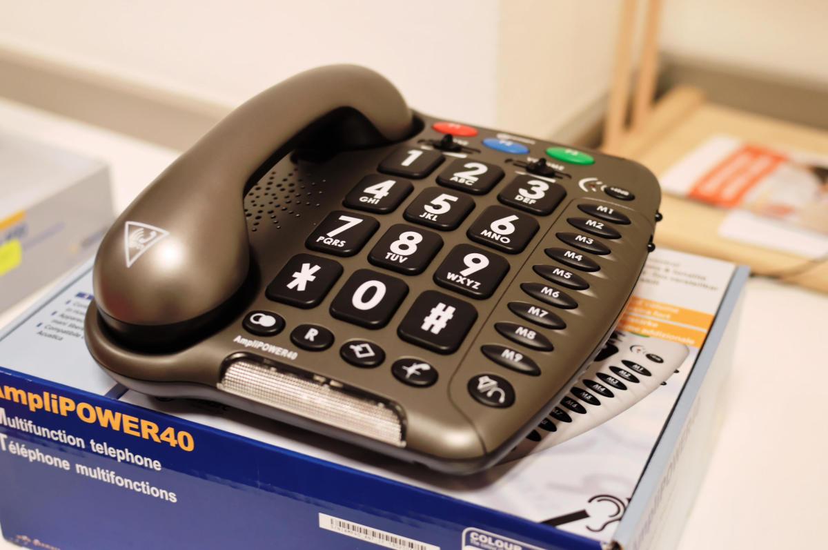 Telefon mit übergroßen Tasten