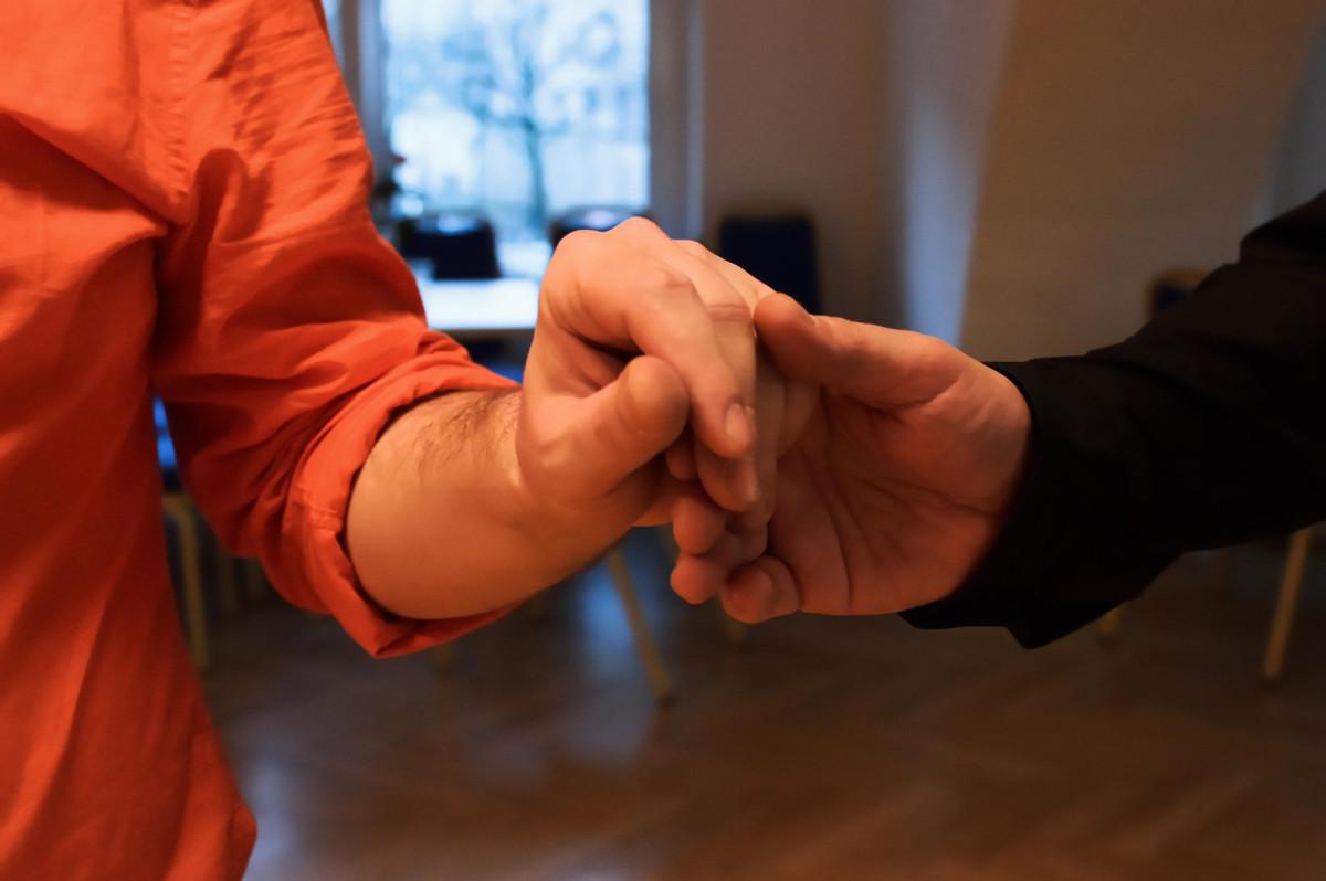 Hände von Tobias und Jens