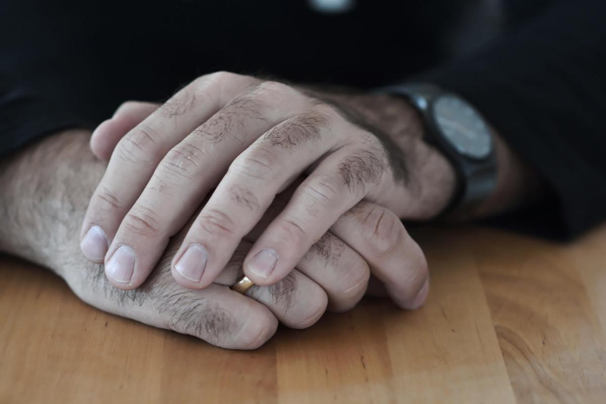 Die Hände von Johannes Korten