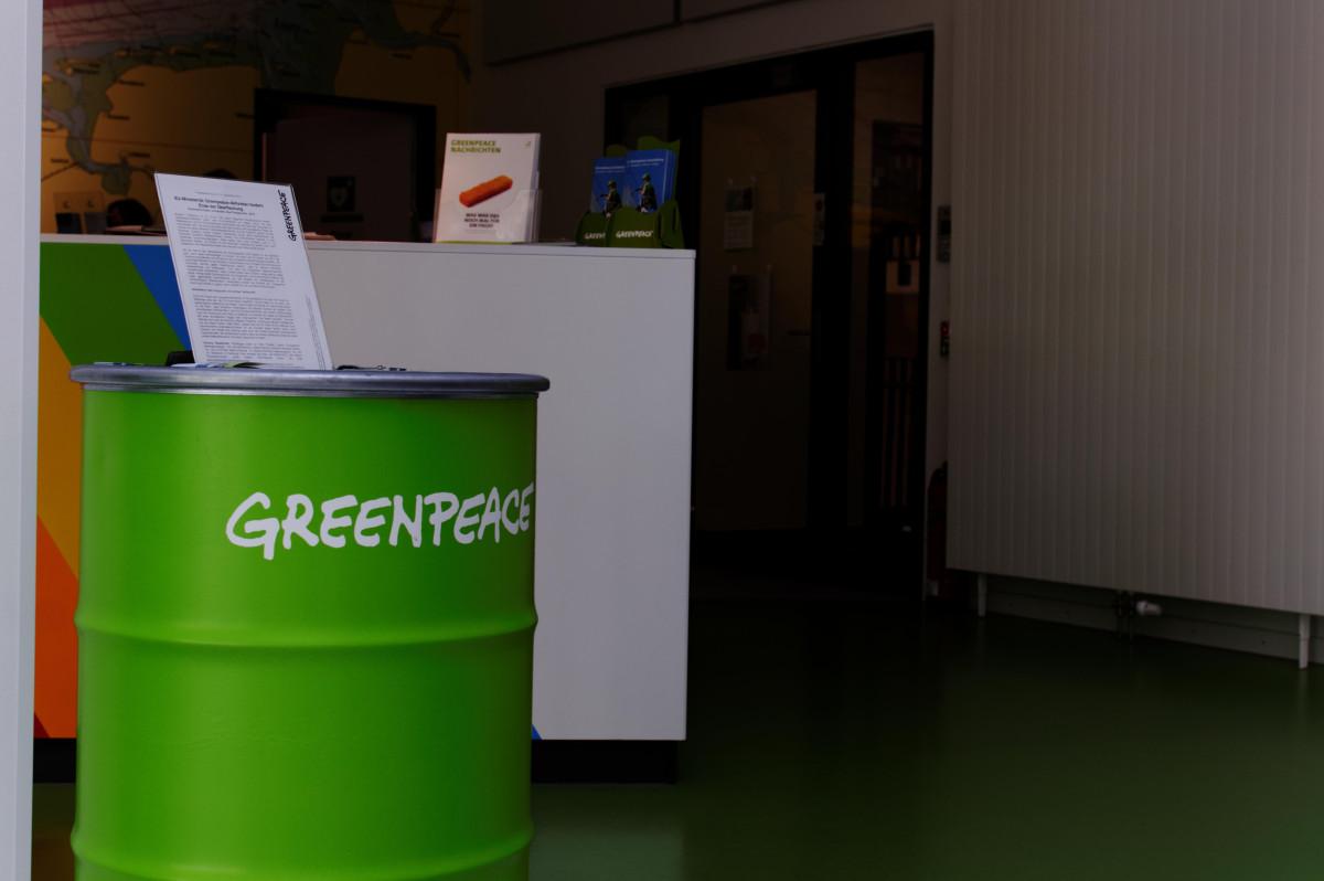 Eingang Greenpeachehaus