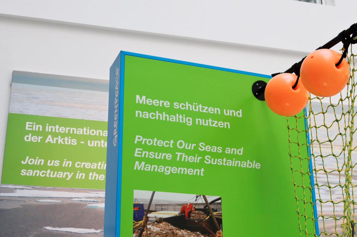 Ausstellung Meeresschutzkampagne