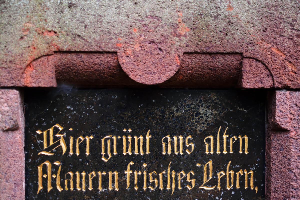 """""""Hier grünt aus alten Mauern neues Leben"""""""