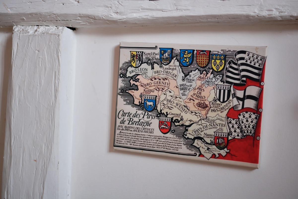 Karte der Bretagne